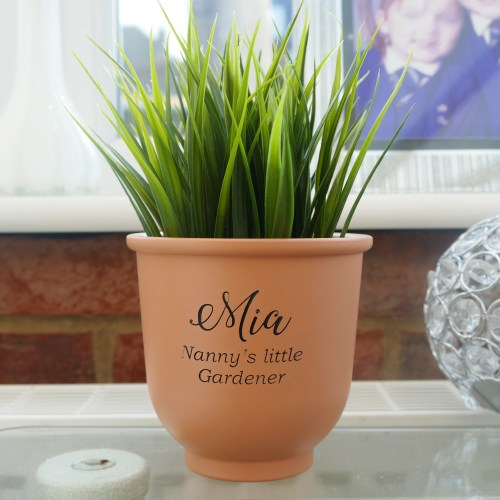 Personalised childrens plant pot