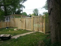 Back Gate (our pile of left over wood)