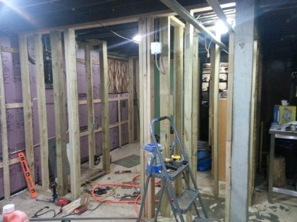 View of french door to closet/office