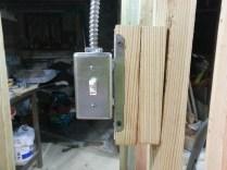 Light switch to closet/office