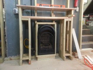 The basic Mantel built ready to be squared.