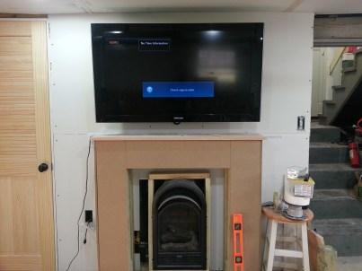 TV mounted