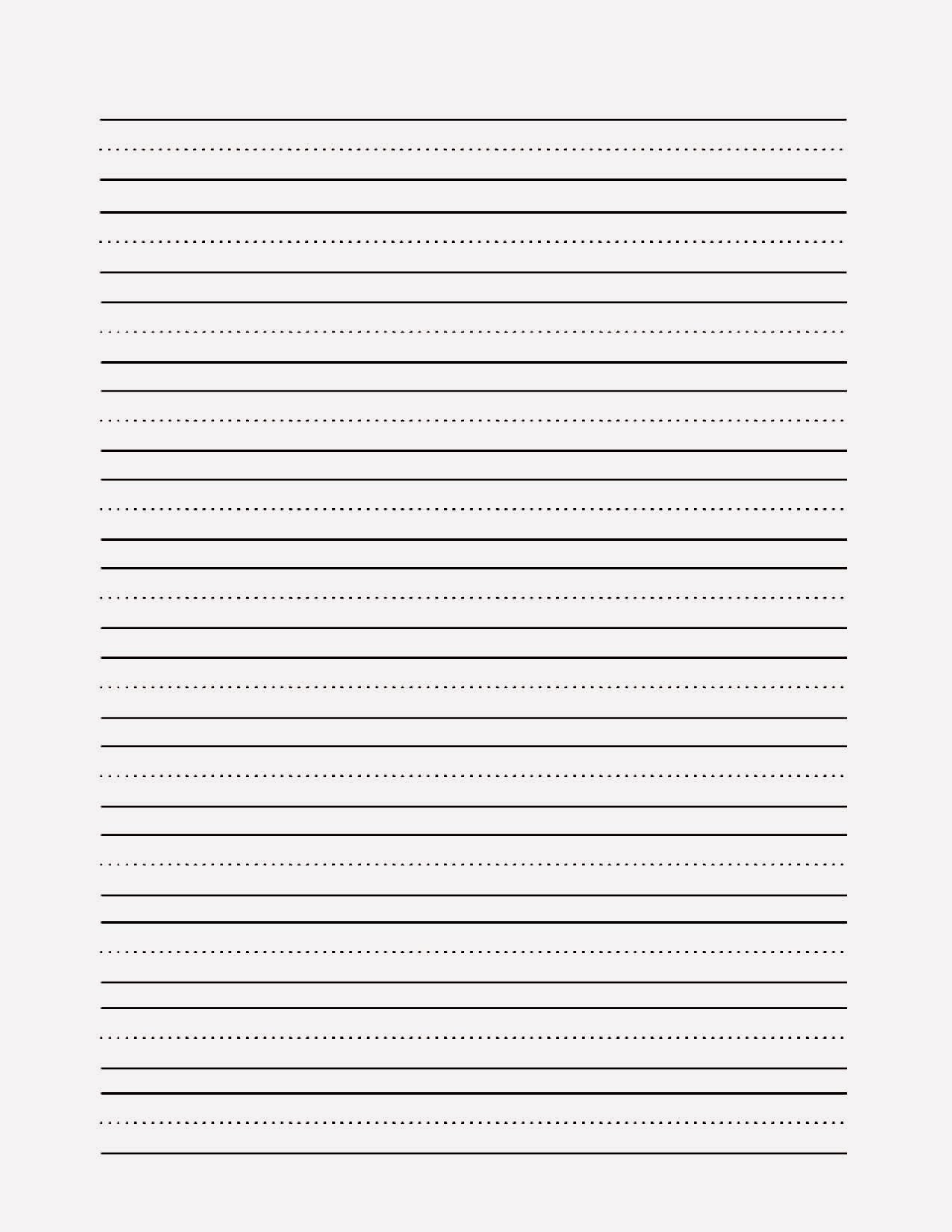 Primary Lined Paper Template primary writing lines printable – Elementary Lined Paper Template