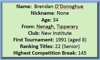 Brendan O'Donoghue Profile