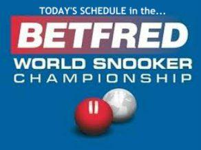 World Snooker Championship Schedule