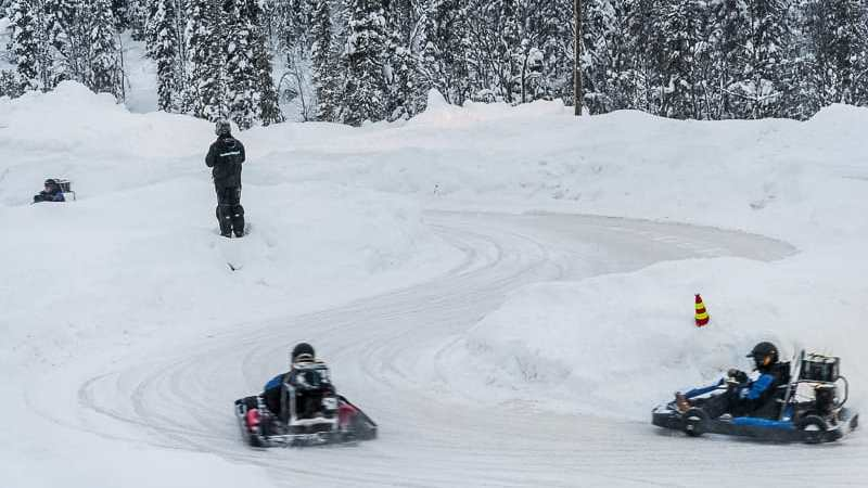 Ice Karting in Levi, Lapland (Finland)
