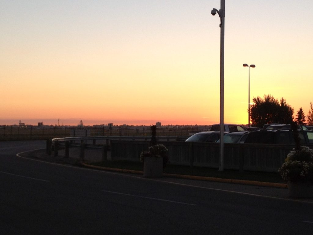 Sonnenaufgang über Saskatoon