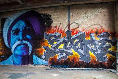 beeindruckende und detailreiche Graffiti