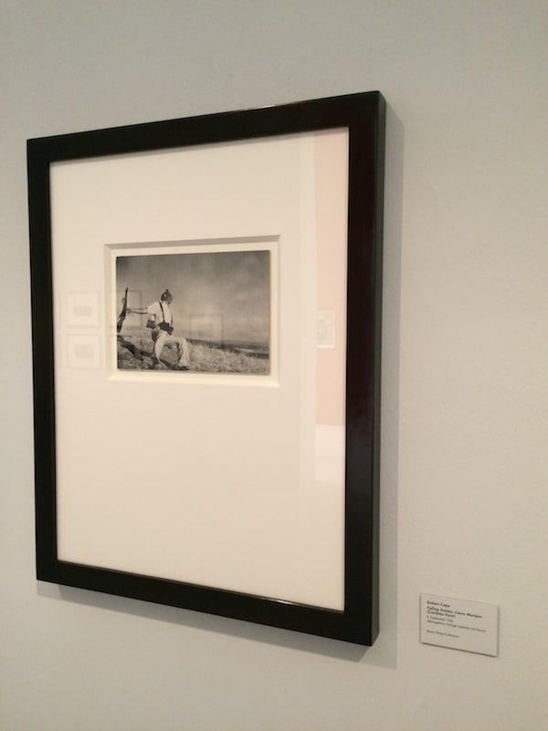 Das Capa-Foto in der Leica-Ausstellung