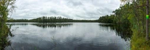 Seepanorama, Hiking-Trail Sammalistonpolku in Finnland