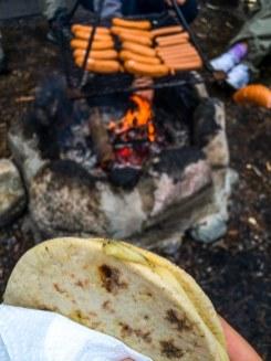 Grillkäse und Lagerfeuer, Hiking-Trail Sammalistonpolku in Finnland