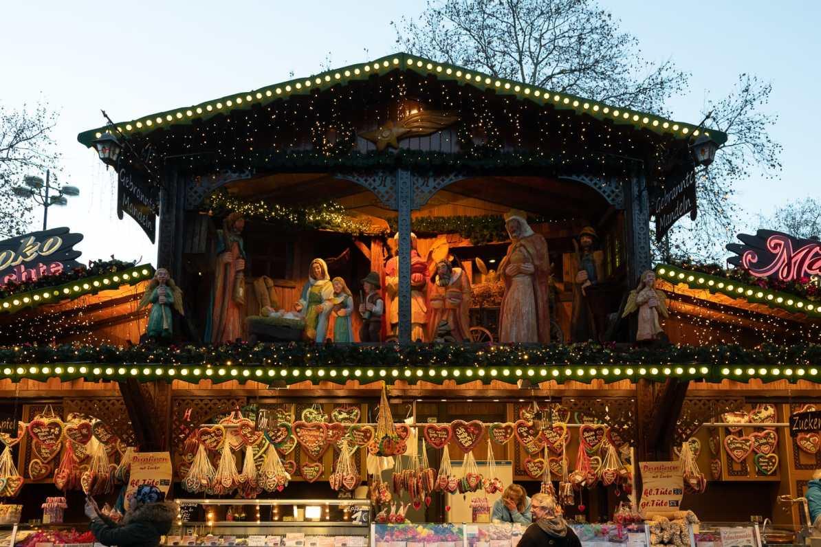 Stand auf dem Dortmunder Weihnachtsmarkt