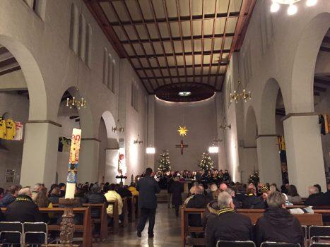 Gottesdienst in der Dreifaltigkeitskirche zum Geburtstag des BVBs