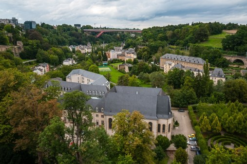 Blick nach Pfaffenthal in Luxembourg