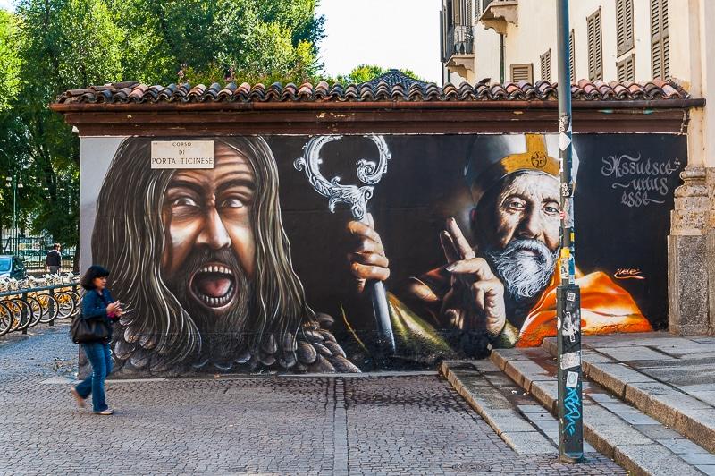 Jesus Christ Superstar? Mailand Streetart