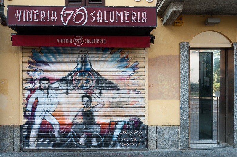 Streetart Salumeria Saturday Night Fever