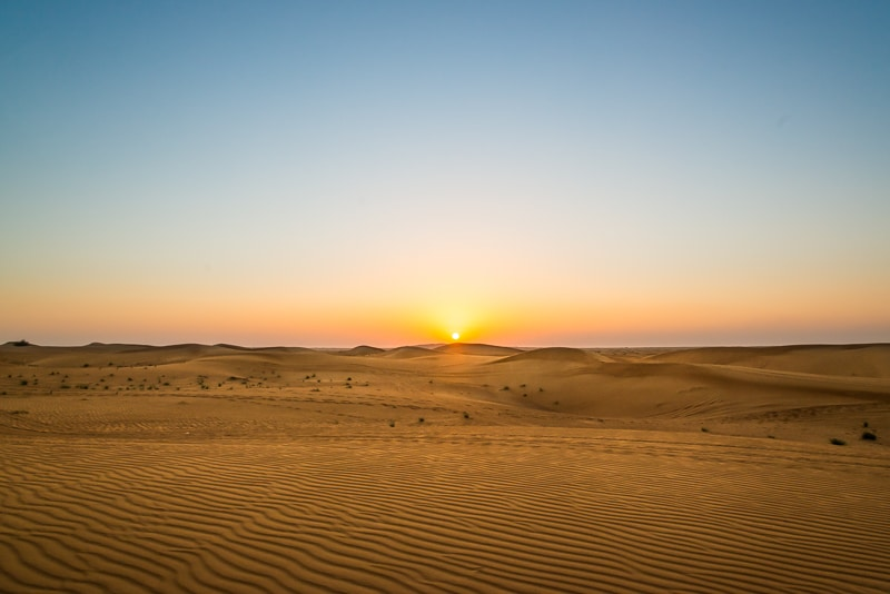 Fotostop 2 - Sonnenuntergang in der Wüste Foto: Simon Bierwald (Indeed Photography)