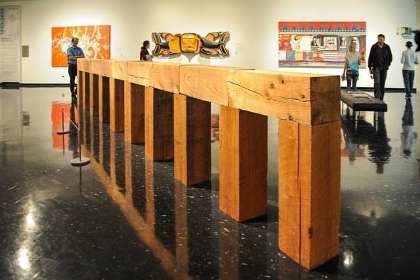 Carl Andre - Konstruktion einer neuen Brücke, Düsseldorf gewidmet