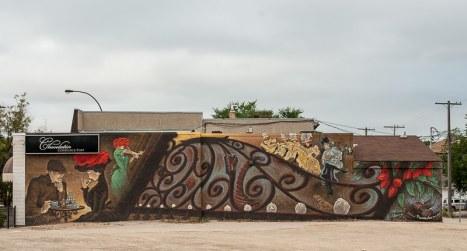 Wandbild am Laden von Charlotte Popp