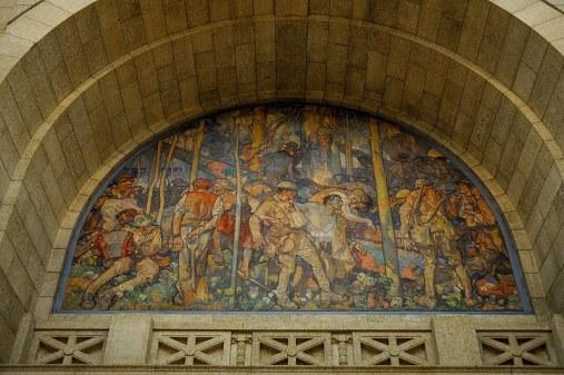kryptisches Gemälde im Gebäude
