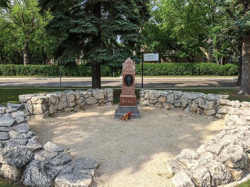 Grab von Louis Riel