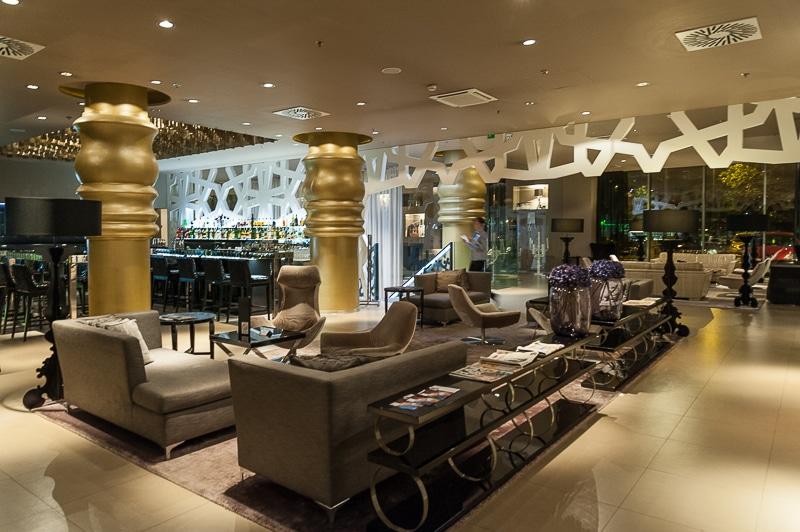 Bar- und Loungebereich, Falkensteiner Hotel, Belgrad