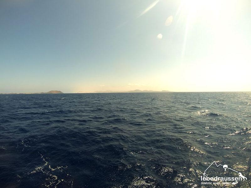 auf dem Rückweg von Fuerteventura
