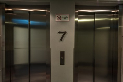 Fahrstuhl im 7. Stock
