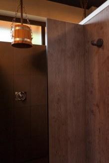 Dusche im Badehaus
