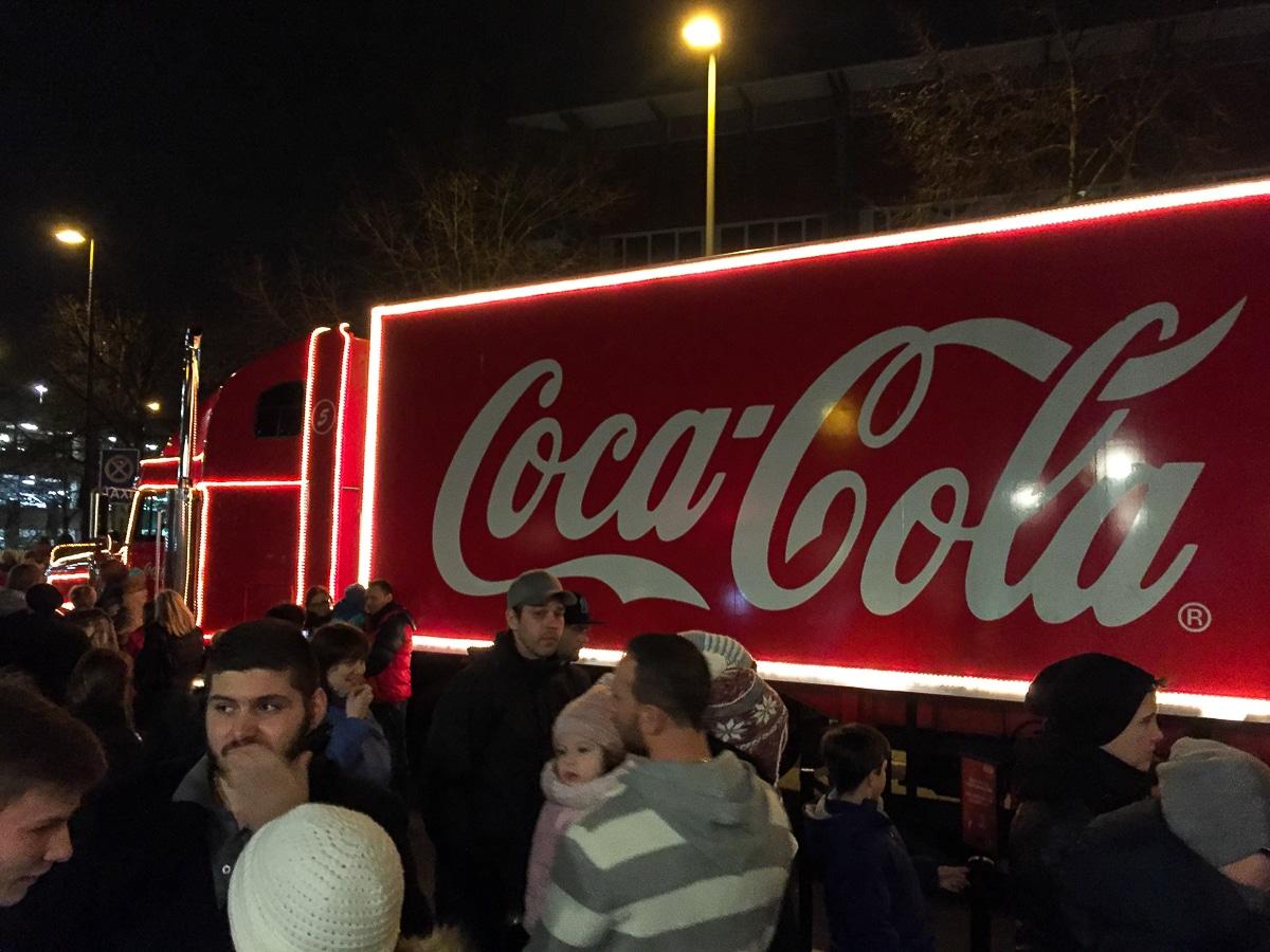 Coca-Cola-Truck am Centro Oberhausen