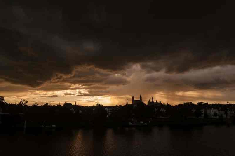 Sonnenuntergang in Maastricht