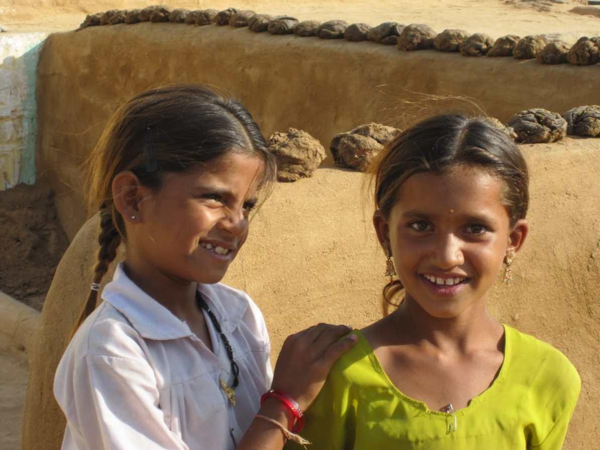 Mädchen in der Wüste, Jaisalmer, Indien