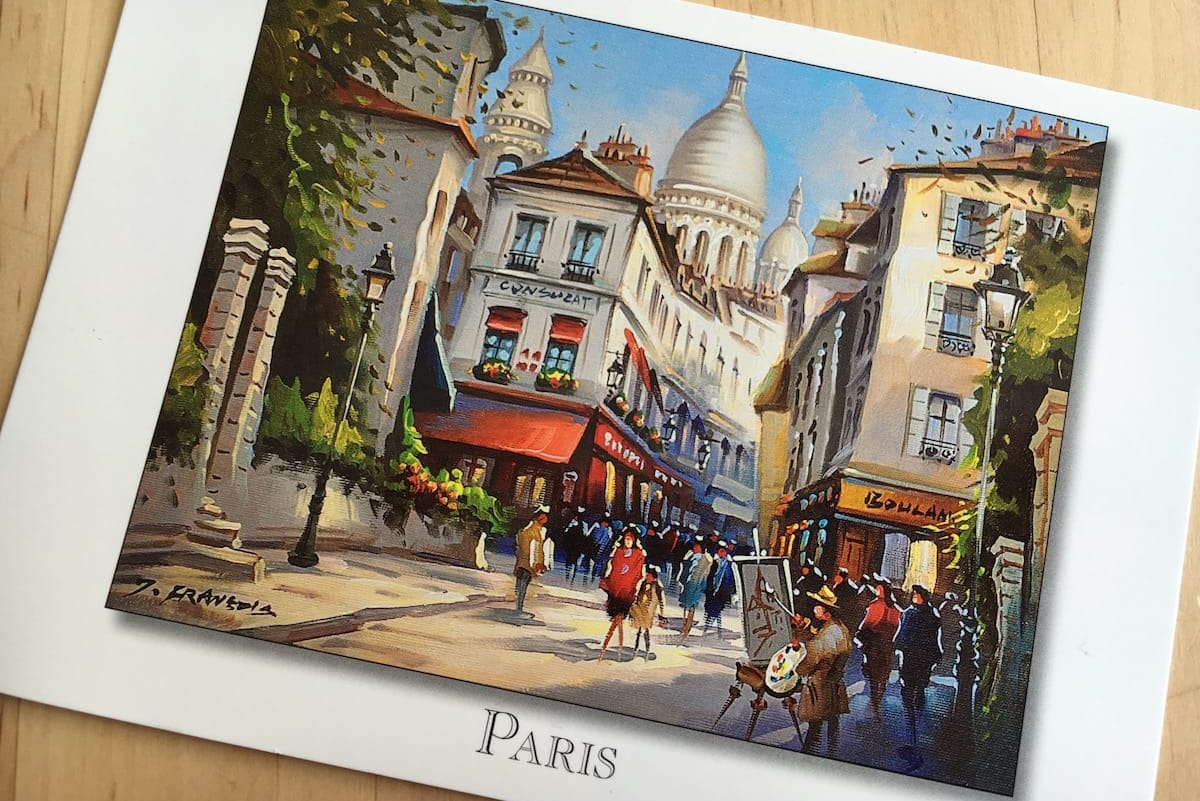 Postcard of the Week - Paris, Frankreich