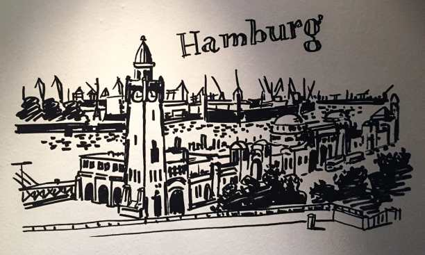 Hamburg Wandbild im Bad