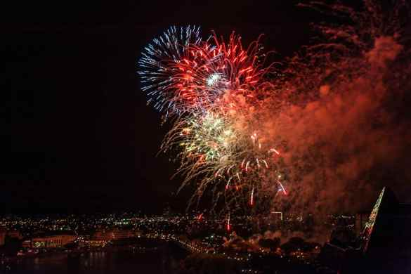 Feuerwerk zum 149. Canada Day in Ottawa