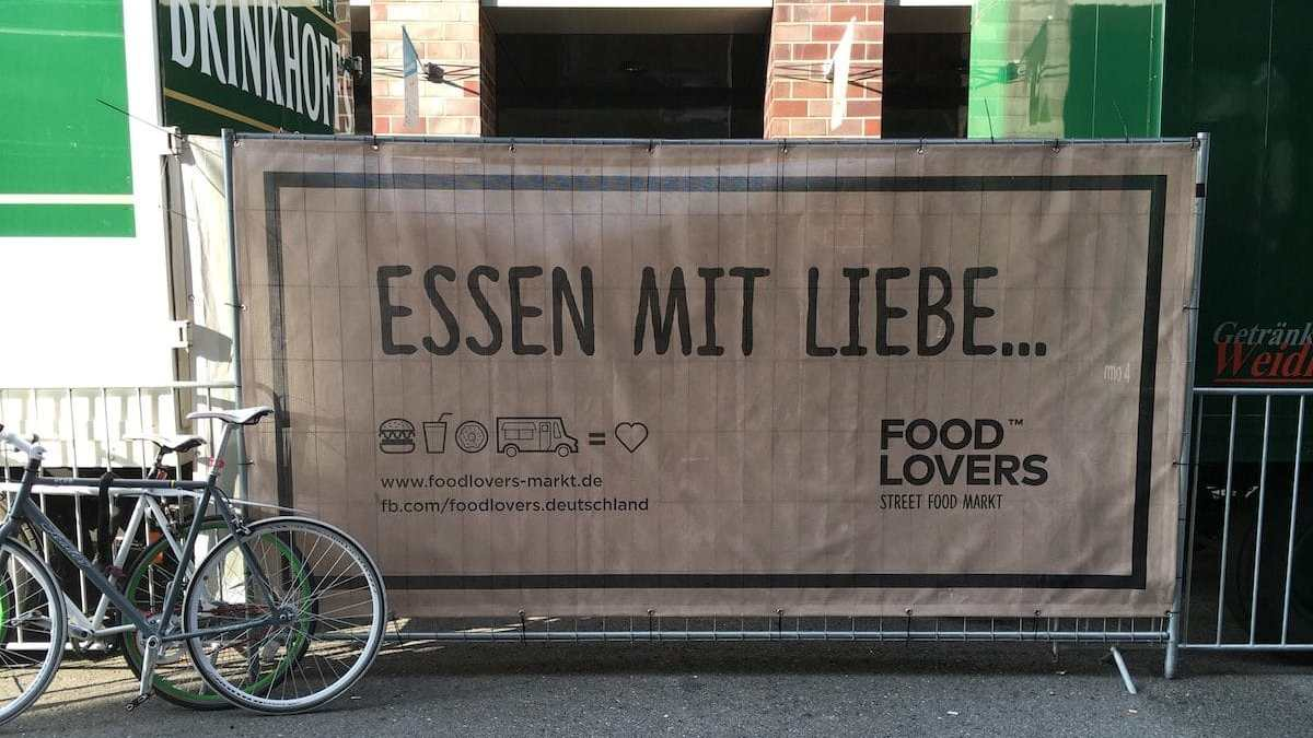 Motto der Food Lovers Street Food Märkte
