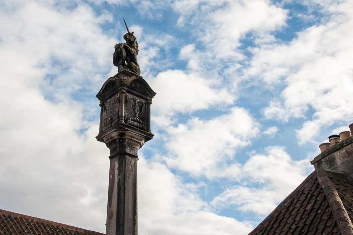 Mercat Cross mit Royal Unicorn, Culross