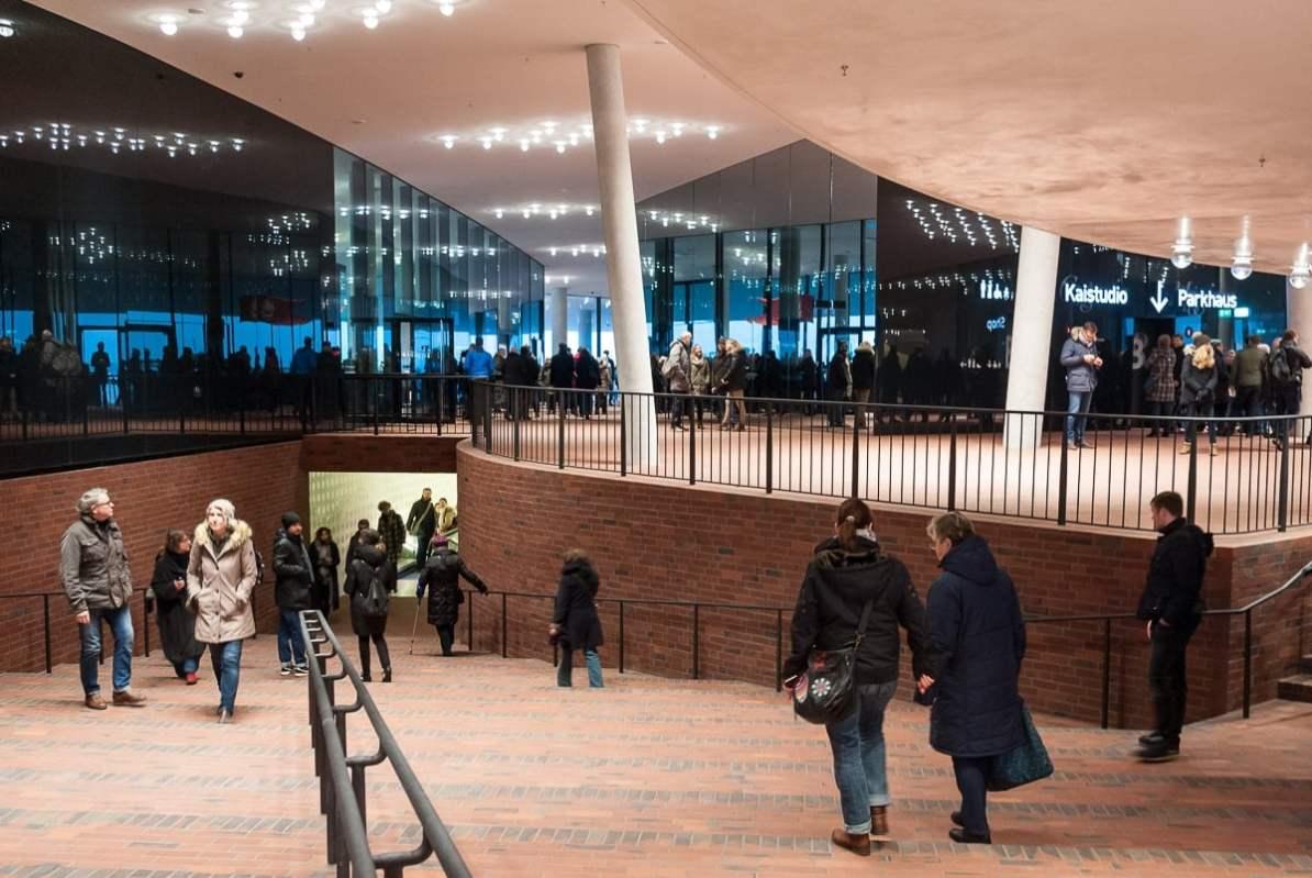 Eingangsbereich des Plaza