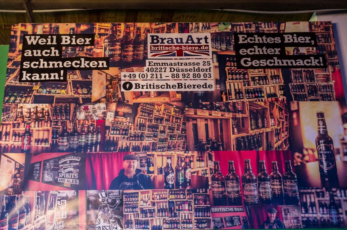 Werbung für Britische Biere