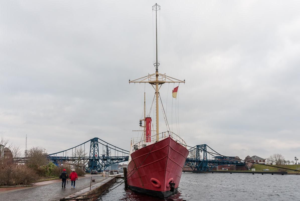 Feuerschiff Weser am Bontekai, Wilhelmshaven.
