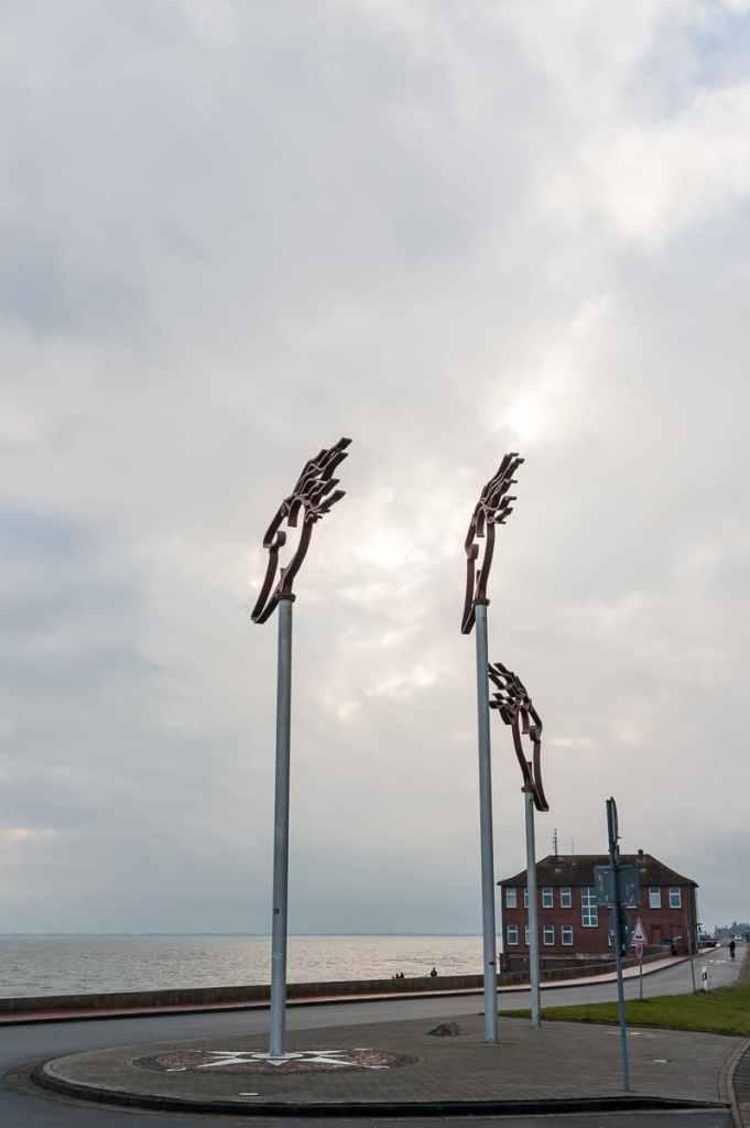 Windwächter am Südstrand von Wilhelmshaven.