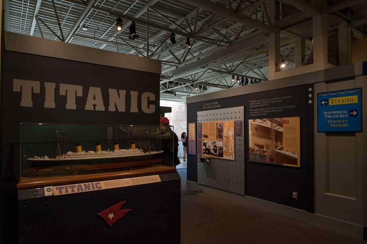 Galerie für die Titanic im Maritime Museum of the Atlantic