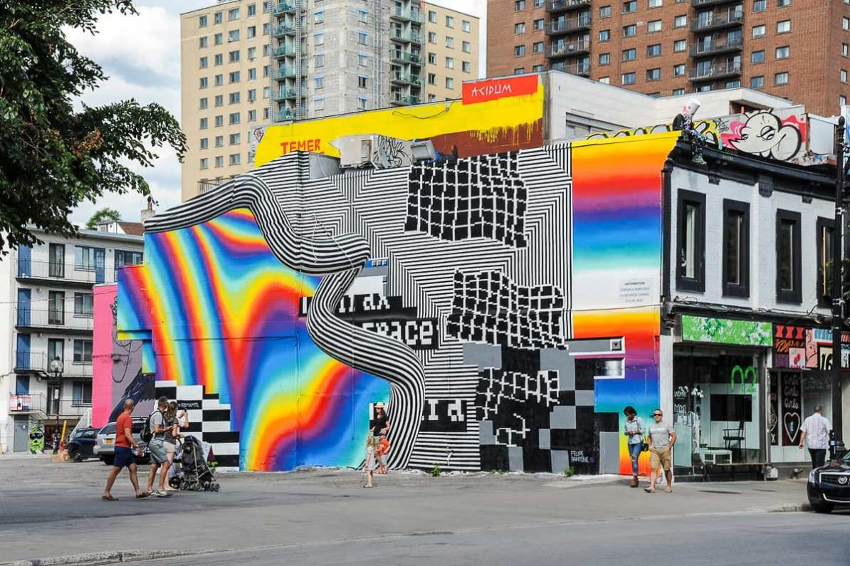 Felipe Pantone - Montréal Mural Festival