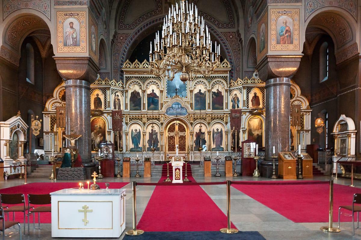Im Inneren der Uspenski-Kathedrale