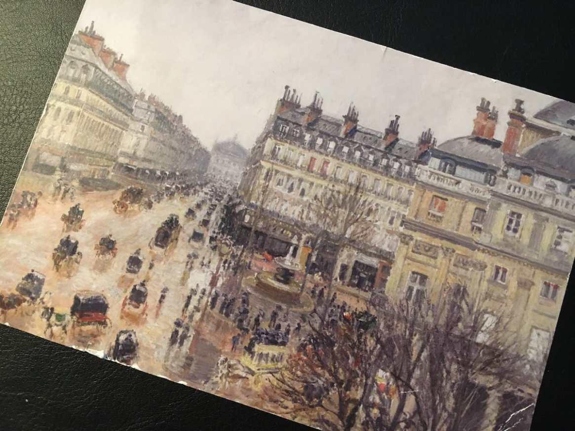 Postcard of the Week: Place du Théâtre Français, Paris : pluie, 1898