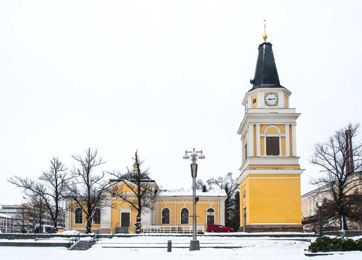 Die alte Kirche Ende Januar 2015