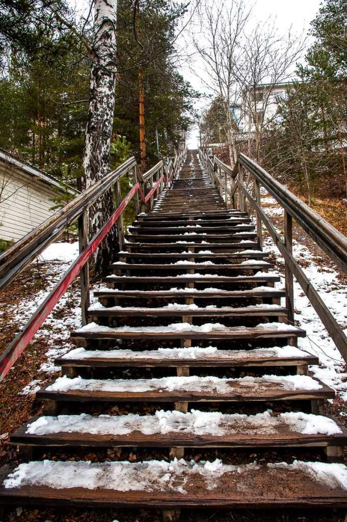 Pispala: Treppen