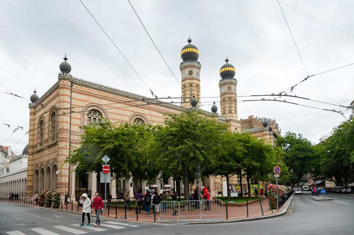 Die große Synagoge in der Dohány-Straße im maurischen Stil.