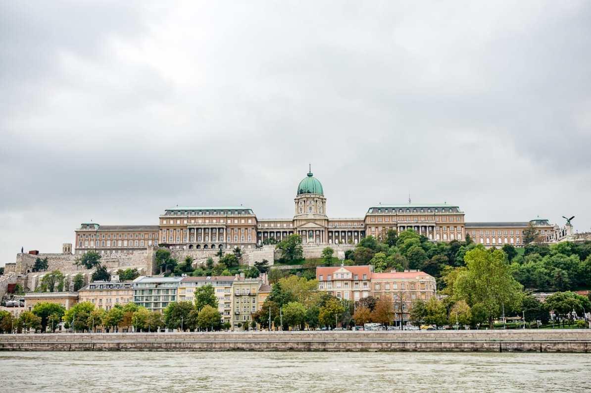 Burgpalast auf der Buda-Seite von Budapest