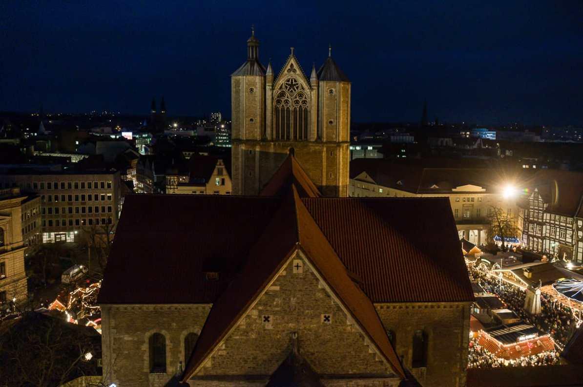 Dom St. Blasii vom Rathausturm aus gesehen
